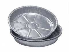 "BWHB0002 | 7"" FDA Aluminum Foil Container for Cheese Cake Baking"
