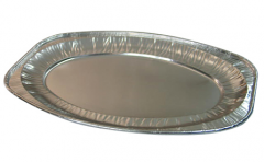 BWHB0028 | Disposable Oval Aluminum Foil Food Serving Platter