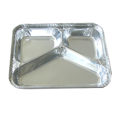 BWHB0029 | 3 Compartments Aluminum Foil Meal Takeaway Container