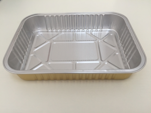 BWATW1250A | Smooth Wall Colored Aluminum Foil Square Container