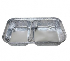 BWSP55010 | 2 Compartments Aluminum Foil Divided Container