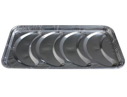 BWSC3210 | 4 Compartments Croissant Aluminum Foil Mold