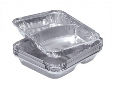 BWSP10016 | 2 Compartments Aluminum Foil Takeaway Packaging Container
