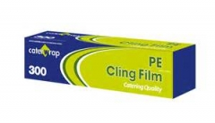 Clear and Sticky PE Cling Wrap for Food Wrapping