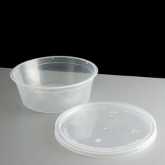 Round Shape Disposable PP Plastic Container For Food Pack