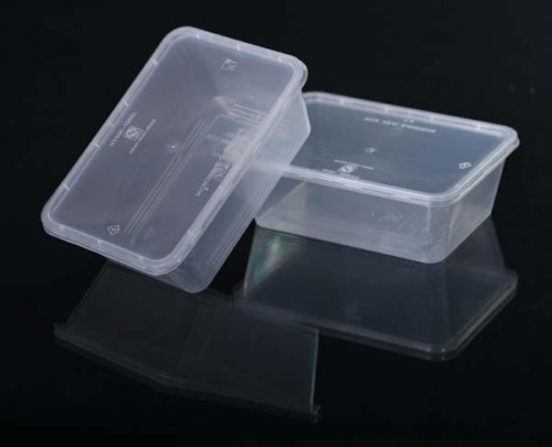 650ml Square PP Disposable Plastic Food Container