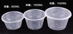 1000ml Round Disposable PP Container for Food Pack